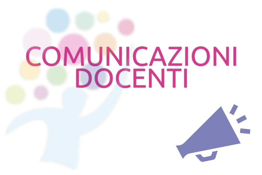 Comunicazioni per docenti